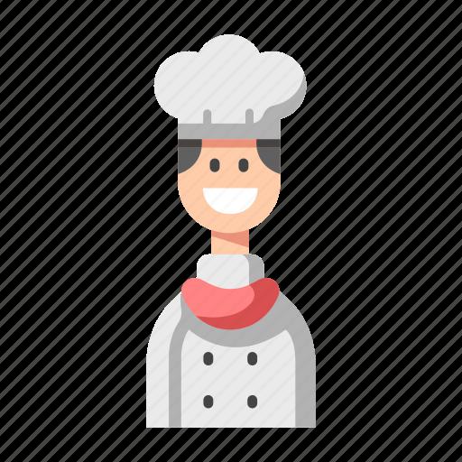 Chef, cook, food, man, restaurant, smile icon - Download on Iconfinder
