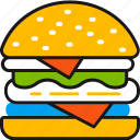 burger, cooking, fast food, food, kitchen, restaurant, tasty icon