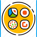 bar, eating, food, japanese, kitchen, restaurant, sushi icon