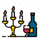 candle, dinner, light, restaurant, romance, romantic, valentine
