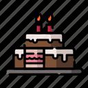 birthday, cafe, cake, celebration, party, restaurant, tart icon