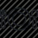 Dish Fork Merry Restaurant Spoon Xmas Icon