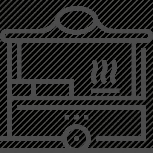 pop up, restaurant, short term, temporary, trailer, van icon