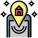 address, location, map, pin, placeholder, signs icon