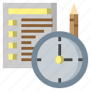 date, document, file, folders, management, sandclock, time icon