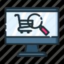 retail, search, shop, shopping, store icon