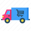 delivery, retail, shop, shopping, store, truck
