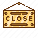 close, retail, shop, shopping, sign, store icon