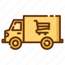 delivery, retail, shop, shopping, store, truck icon