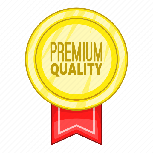 cartoon, certificate, label, object, premium, quality, sign icon