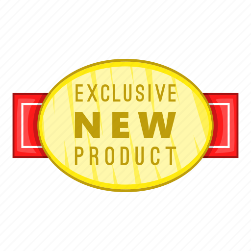 cartoon, exclusive, label, new, object, product, sign icon