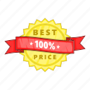 best, cartoon, guarantee, label, object, price, sign icon