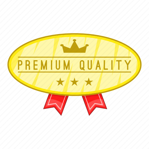 Cartoon, certificate, label, object, premium, quality, sign icon - Download on Iconfinder