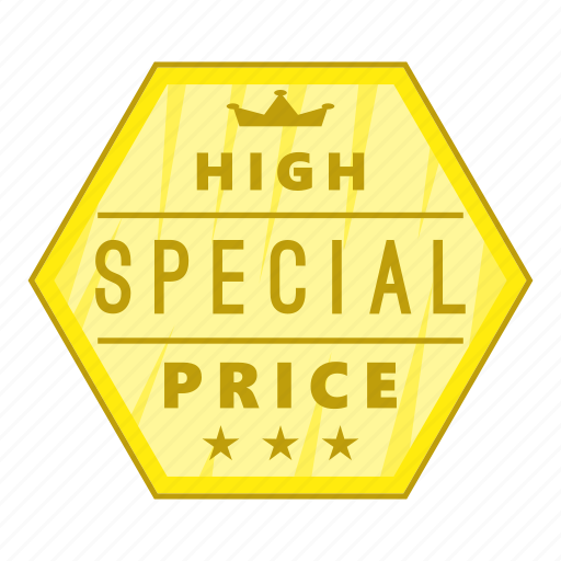 Cartoon, high, label, object, price, sign, special icon - Download on Iconfinder