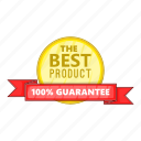best, cartoon, guarantee, label, object, product, sign icon