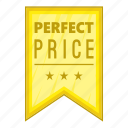 cartoon, guarantee, label, object, pennant, price, sign icon