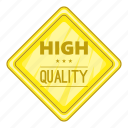 cartoon, high, label, object, quality, sign, star icon