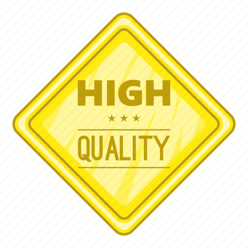 Cartoon, high, label, object, quality, sign, star icon - Download on Iconfinder
