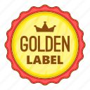 best, cartoon, golden, label, object, offer, sign