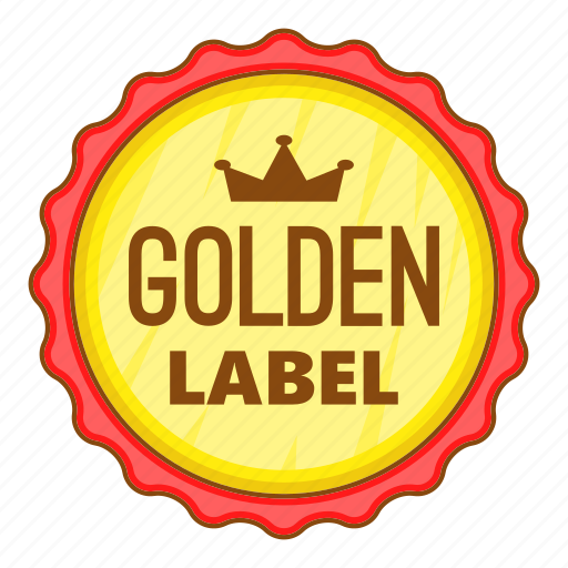 best, cartoon, golden, label, object, offer, sign icon