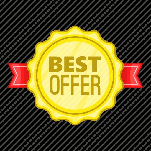 Best, cartoon, label, object, offer, rosette, sign icon - Download on Iconfinder