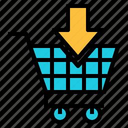 addto, arrow, card, retail, shopping, supermarket icon