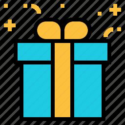 birthday, gift, present, retail icon
