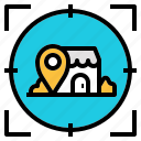 checkin, location, map, promote, retail, shop icon
