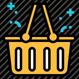 basket, retail, shopping, supermarket icon