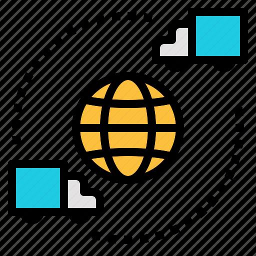 global, logistics, online, shipping, shopping, worldwide icon