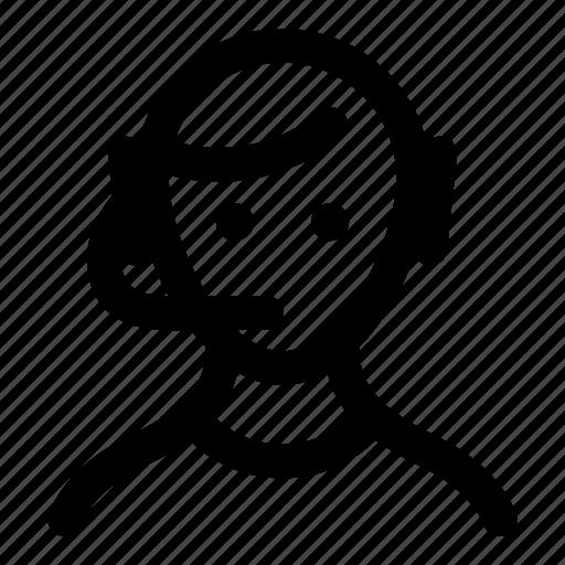 customer service, help, representative, sales, support icon
