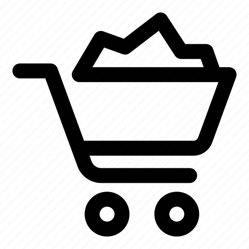 basket, cart, retail, sales, shopping, trolley icon