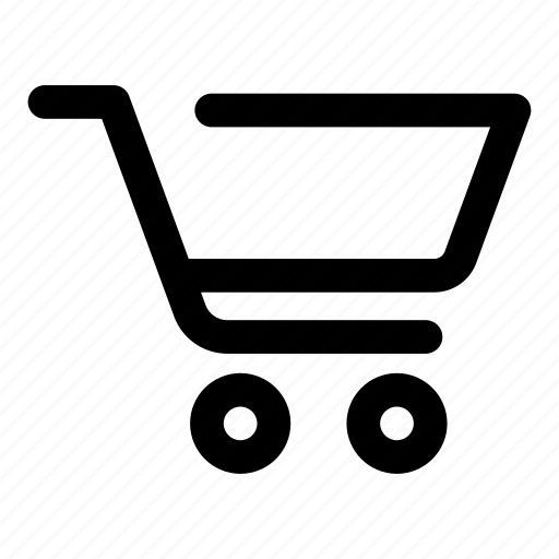 basket, cart, empty, retail, shopping, trolley icon