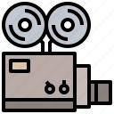 image, picture, projector, technology, video icon