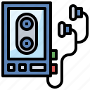 electronics, music, portable, technology, walkman icon
