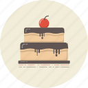 bakery, cake, cuisine, dessert, drink, food, retro icon