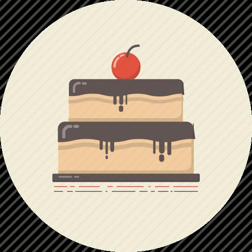 bakery, cake, cuisine, dessert, drink, food, retro icon