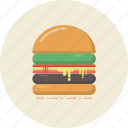 bread, bun, cuisine, drink, food, hamburger, retro icon