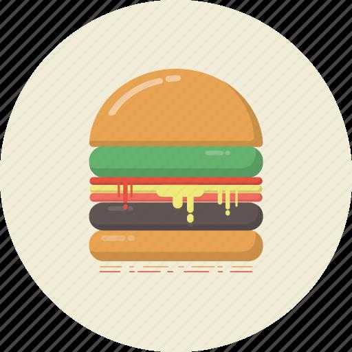 bread, bun, cuisine, drink, food, hamburger, retro icon