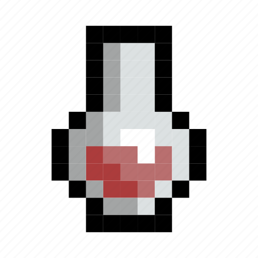 elixir, flask, game, healing, health, potion, red icon