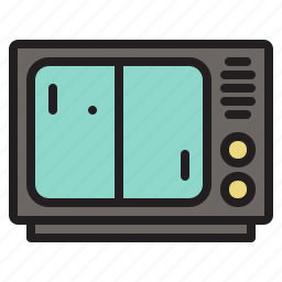 colored, game, games, pong, retro, tv icon