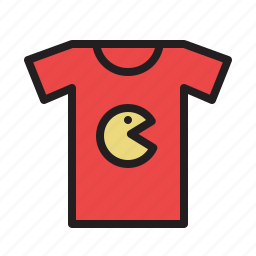 colored, game, games, pacman, retro, t-shirt icon