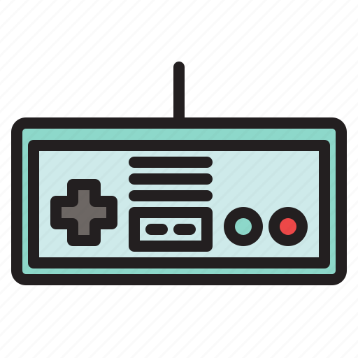 colored, controller, game, games, nes, nintendo, retro icon
