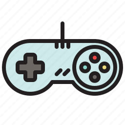 colored, controller, game, games, retro, super nintendo icon
