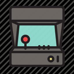 arcade, colored, game, games, retro, vintage icon