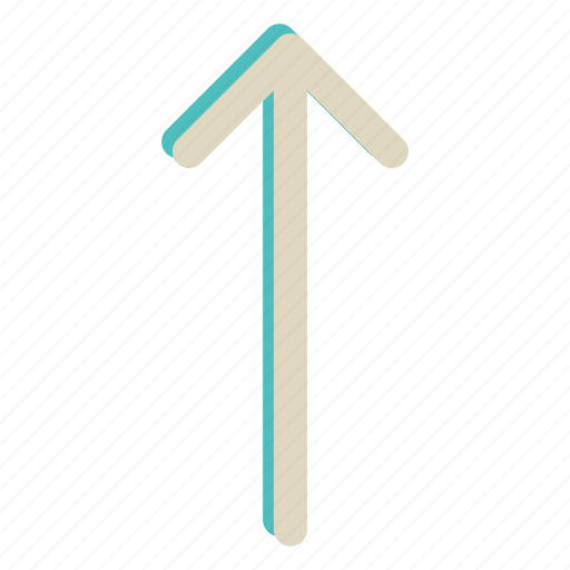 arrow, direction, move, up icon