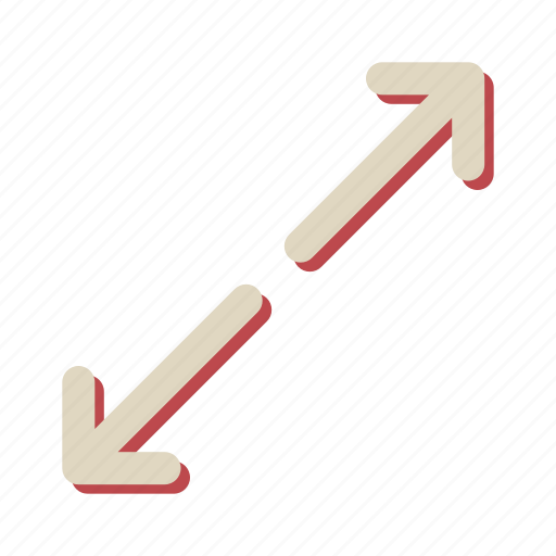 arrow, maximize, navigation, slide icon