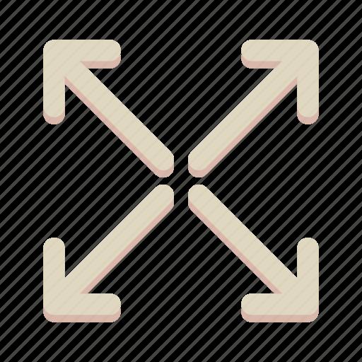 arrow, direction, maximize, move, navigation icon