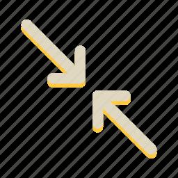 arrow, direction, minimize, slide, up icon