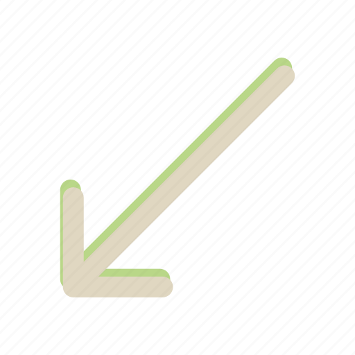 arrow, down, left, move, navigation icon
